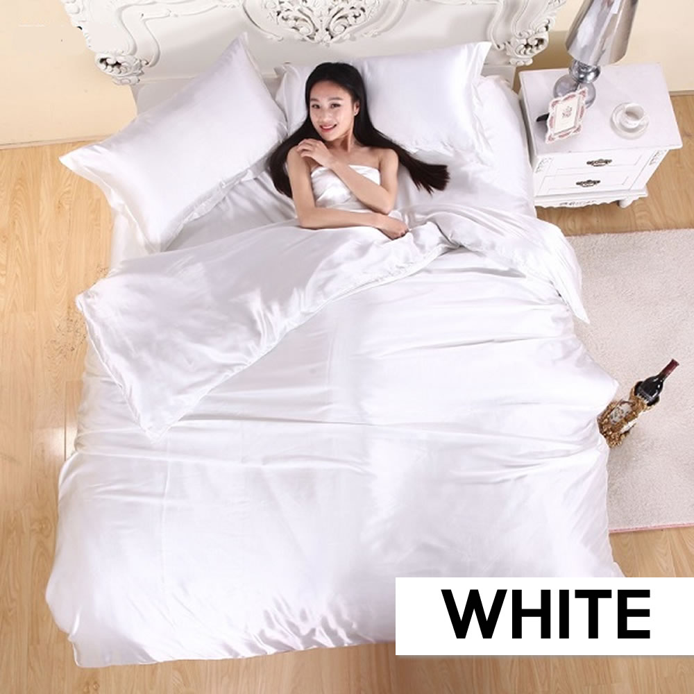 where to buy white satin silk sheets online