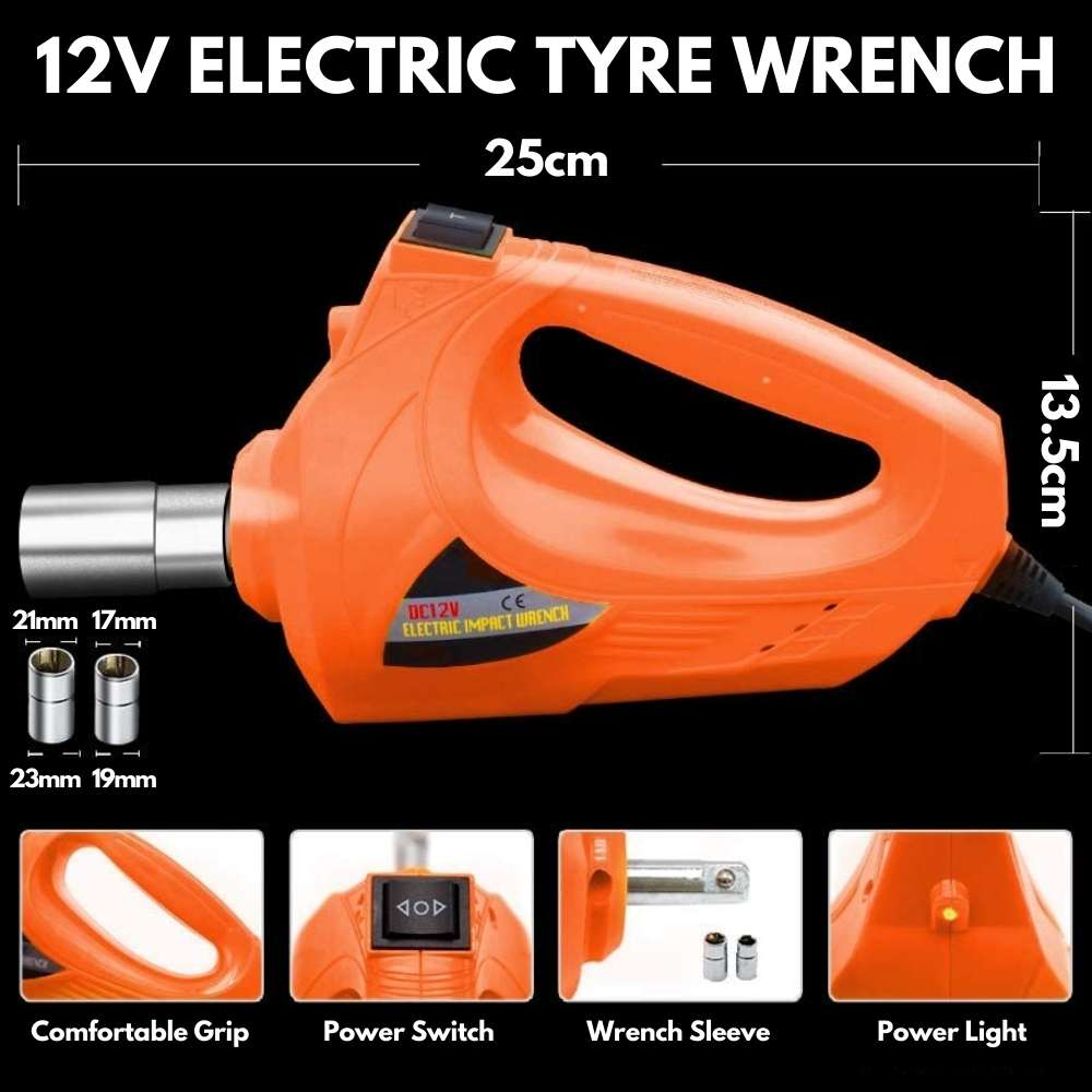 electric impact wrench for car tyre nuts