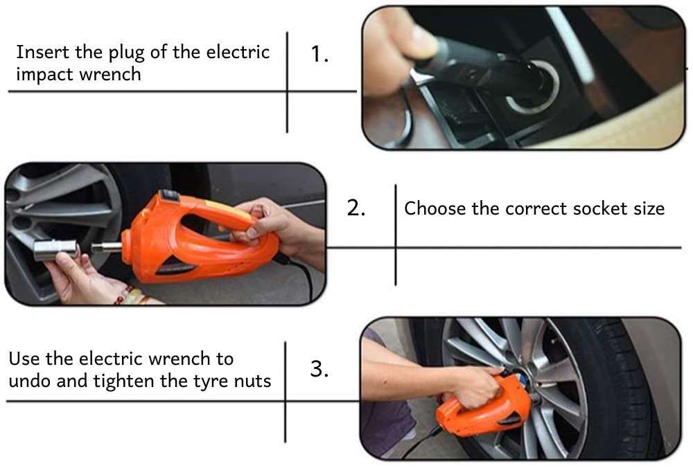 electric wrench for car tyre nuts